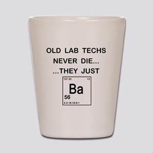 Old Lab Techs copy Shot Glass