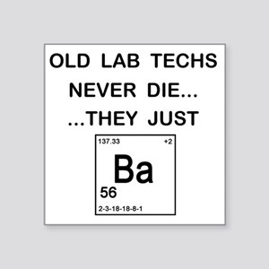 "Old Lab Techs copy Square Sticker 3"" x 3"""