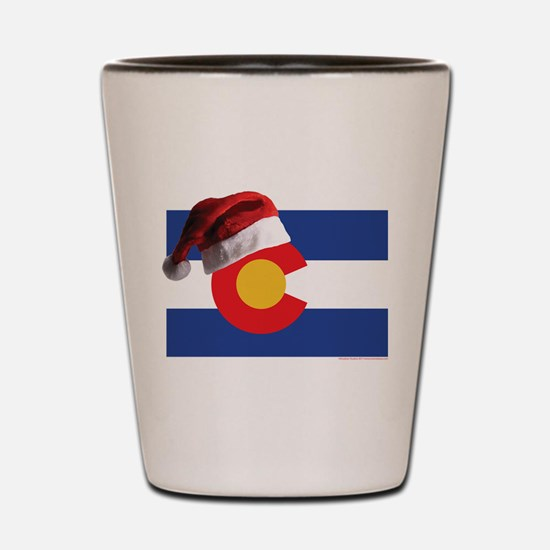 Christmas in Colorado Shot Glass