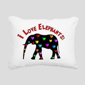 I love Elephants Rectangular Canvas Pillow