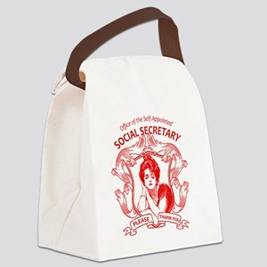 social secretary badge copy Canvas Lunch Bag