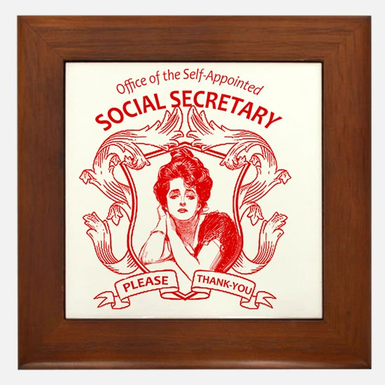 social secretary badge copy Framed Tile