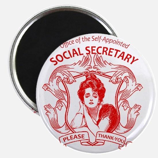social secretary badge copy Magnet