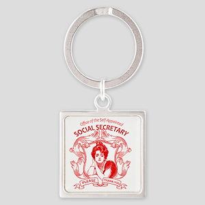 social secretary badge copy Square Keychain