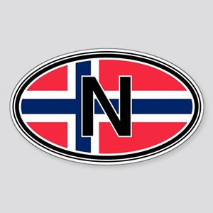 Norway Euro Oval Sticker