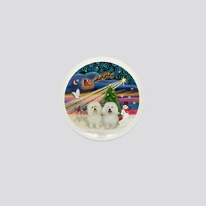 Xmas Magic - Bolognese (two) Mini Button