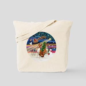Xmas Magic - Basenjis (two) Tote Bag