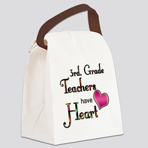 Teachers Have Heart 3 Canvas Lunch Bag