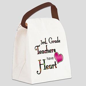 Teachers Have Heart 3 Canvas Lunch Bag
