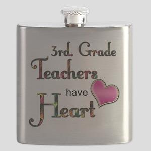 Teachers Have Heart 3 Flask