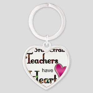 Teachers Have Heart 3 Heart Keychain