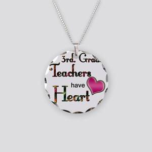Teachers Have Heart 3 Necklace Circle Charm