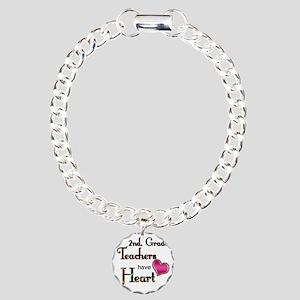 Teachers Have Heart 2 co Charm Bracelet, One Charm