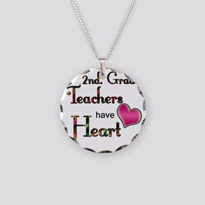 Teachers Have Heart 2 copy Necklace Circle Charm