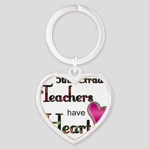 Teachers Have Heart 5 Heart Keychain
