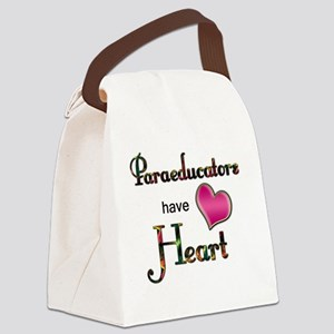 Teachers Have Heart paraeducators Canvas Lunch Bag