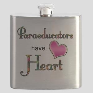 Teachers Have Heart paraeducators Flask