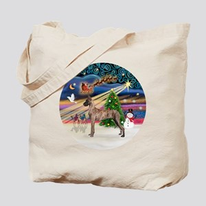 Xmas Magic - Great Dane (brindle stand) Tote Bag
