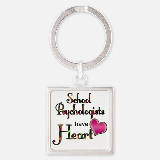 Teachers Have Heart psycho Square Keychain