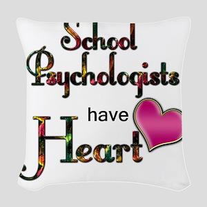 Teachers Have Heart psycho Woven Throw Pillow