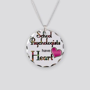 Teachers Have Heart psycho Necklace Circle Charm