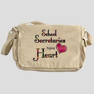Teachers Have Heart school secretary Messenger Bag