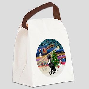 Xmas Magic - Great Dane (black-na Canvas Lunch Bag