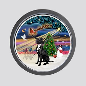 Xmas Magic - Great Dane (black-natural) Wall Clock