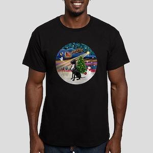 Xmas Magic - Great Dan Men's Fitted T-Shirt (dark)