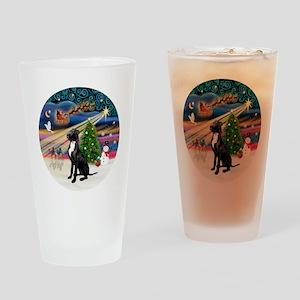 Xmas Magic - Great Dane (black-natu Drinking Glass