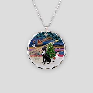 Xmas Magic - Great Dane (bla Necklace Circle Charm