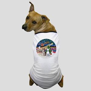 Xmas Magic - Bull Terriers (two) Dog T-Shirt