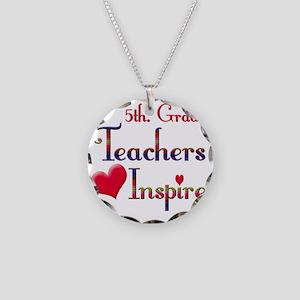 Teachers Inspire 5  Necklace Circle Charm