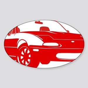 NA red Sticker (Oval)