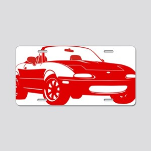 NA red Aluminum License Plate