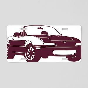 NA merlot Aluminum License Plate