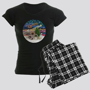 Xmas Magic - Pekingese (Thre Women's Dark Pajamas