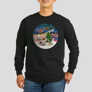 Xmas Magic - Pekingese (T Long Sleeve Dark T-Shirt