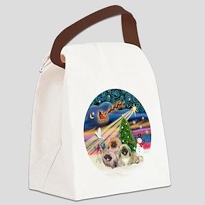 Xmas Magic - Pekingese (Three) Canvas Lunch Bag