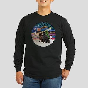Xmas Magic - Newfoundland Long Sleeve Dark T-Shirt