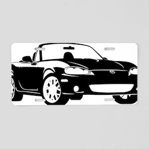 2-NB black Aluminum License Plate