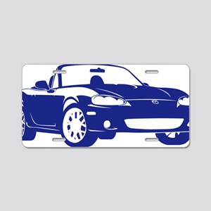 NB blue Aluminum License Plate