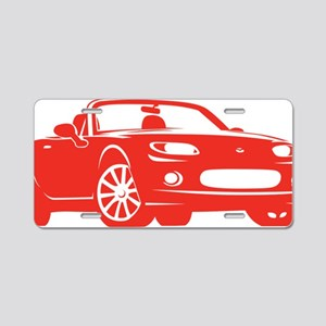 2-NC red Aluminum License Plate