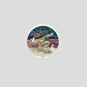 Xmas Magic - Shih Tzu (TWO - P+Y) Mini Button