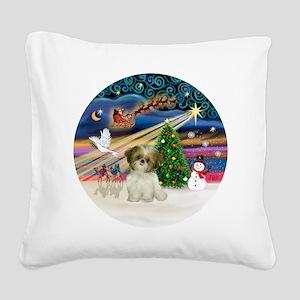 Xmas Magic - Shih Tzu Puppy ( Square Canvas Pillow
