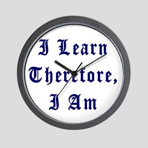 I Learn Therefore I Am Wall Clock