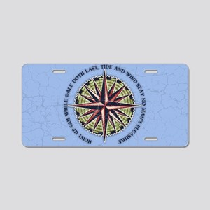 compass-rose3-OV Aluminum License Plate