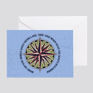 compass-rose3-OV Greeting Card
