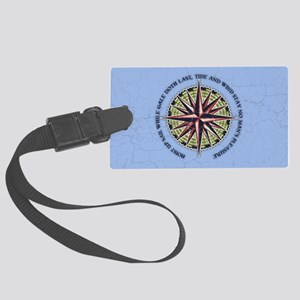 compass-rose3-OV Large Luggage Tag