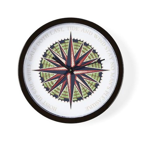 compass-rose3-DKT Wall Clock